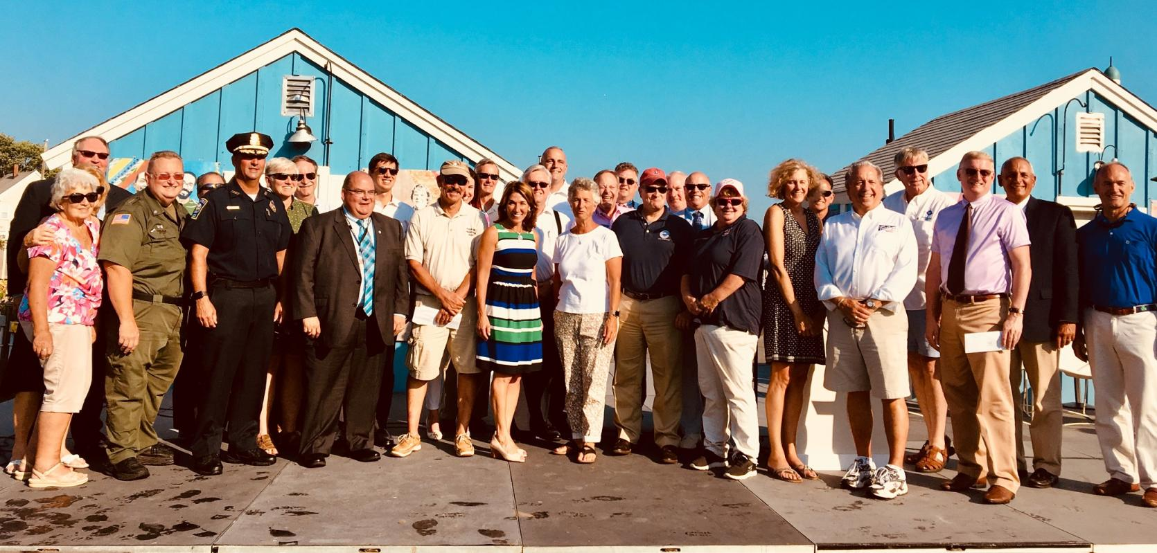 Lt. Governor Karyn Polito visited Hyannis to announce $3.6 million in dredging grants to 10 communities.