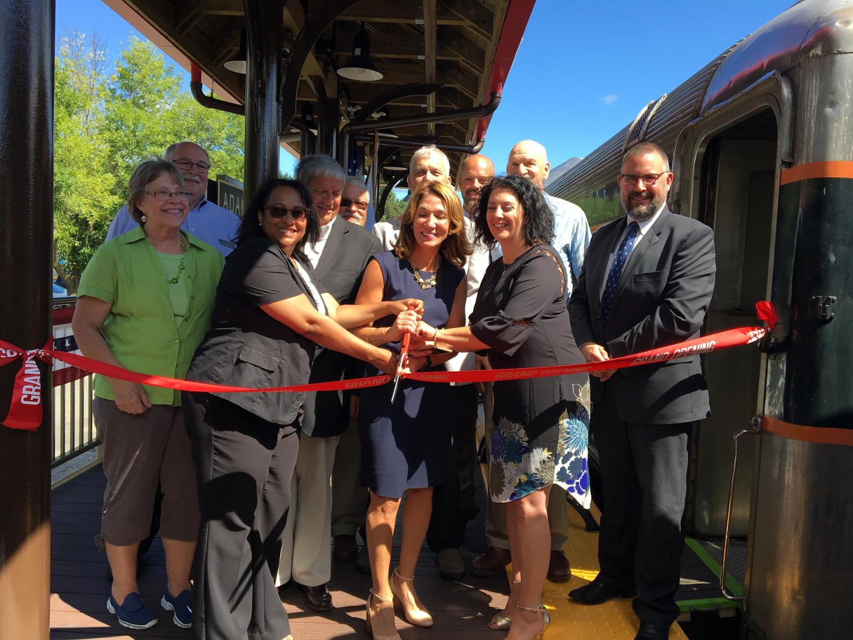 Lt. Governor Karyn Polito joined local officials from Adams and North Adams for a ribbon cutting to celebrate the extension of the Adams Branch Rail Line.