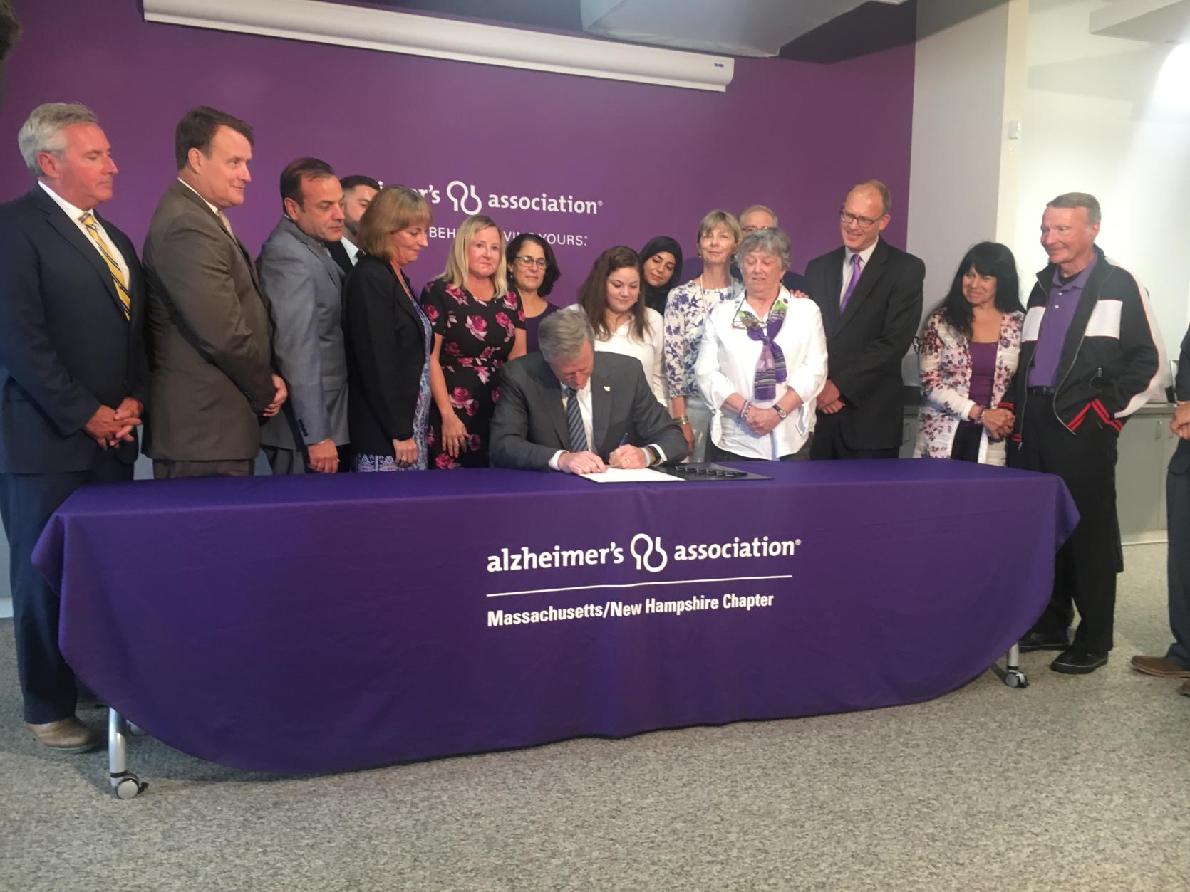 Governor Baker signs H.4116 An Act relative to Alzheimer's and related dementias in the Commonwealth.