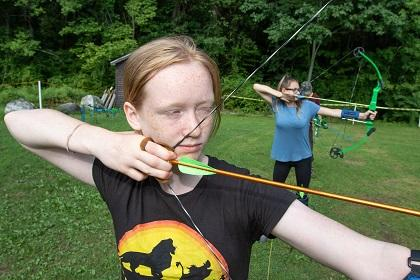 archery at Massachusetts Junior Conservation Camp