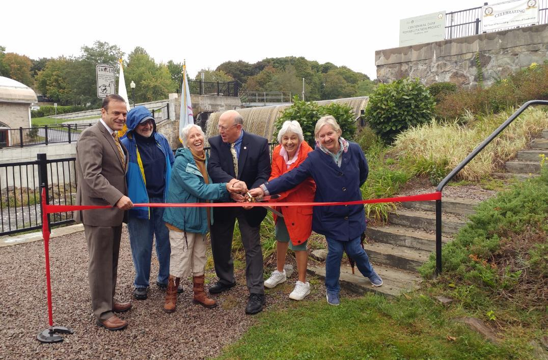 Centennial Dam ribbon cutting