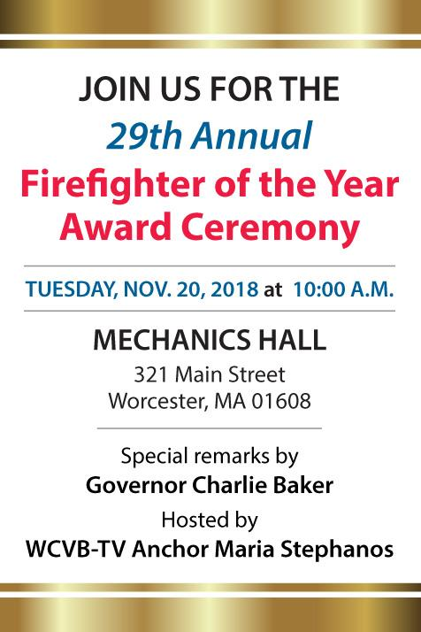 Invitation to Firefighter of the Year Award Ceremony 2018