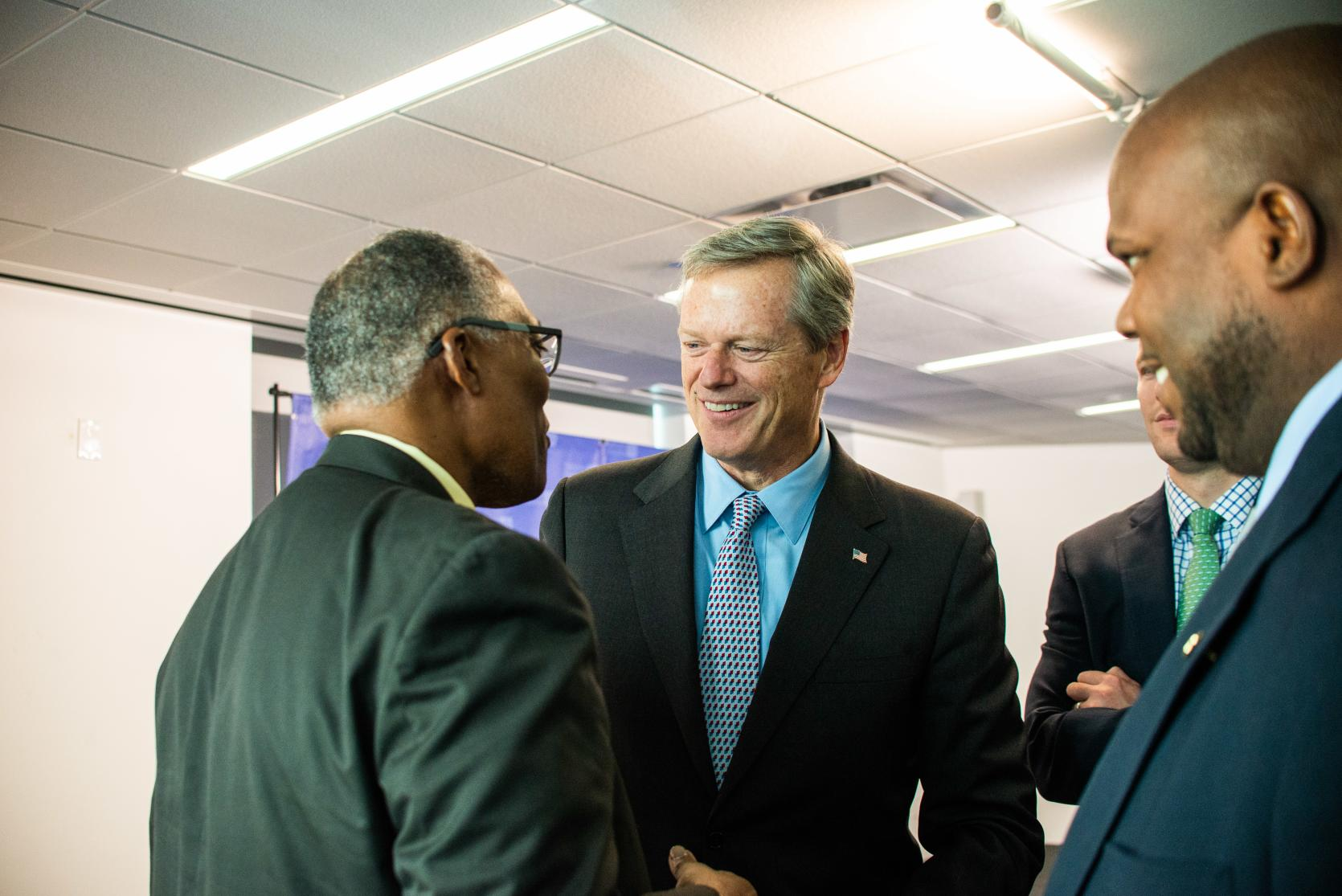 Governor Baker at the release of Black Advisory Commission's first priorities and recommendations.