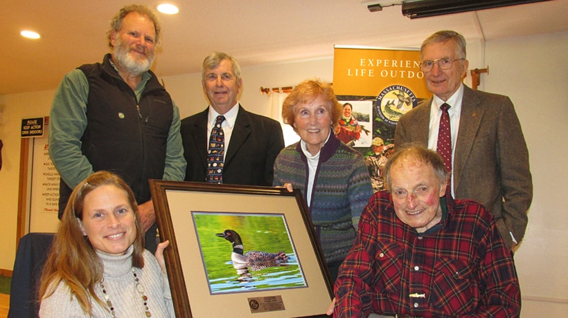 George Darey receives conservation award from the Fish and Wildlife Board