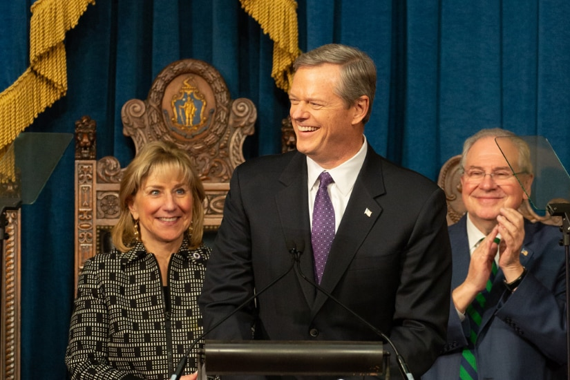 Governor Baker delivers in Inaugural address.