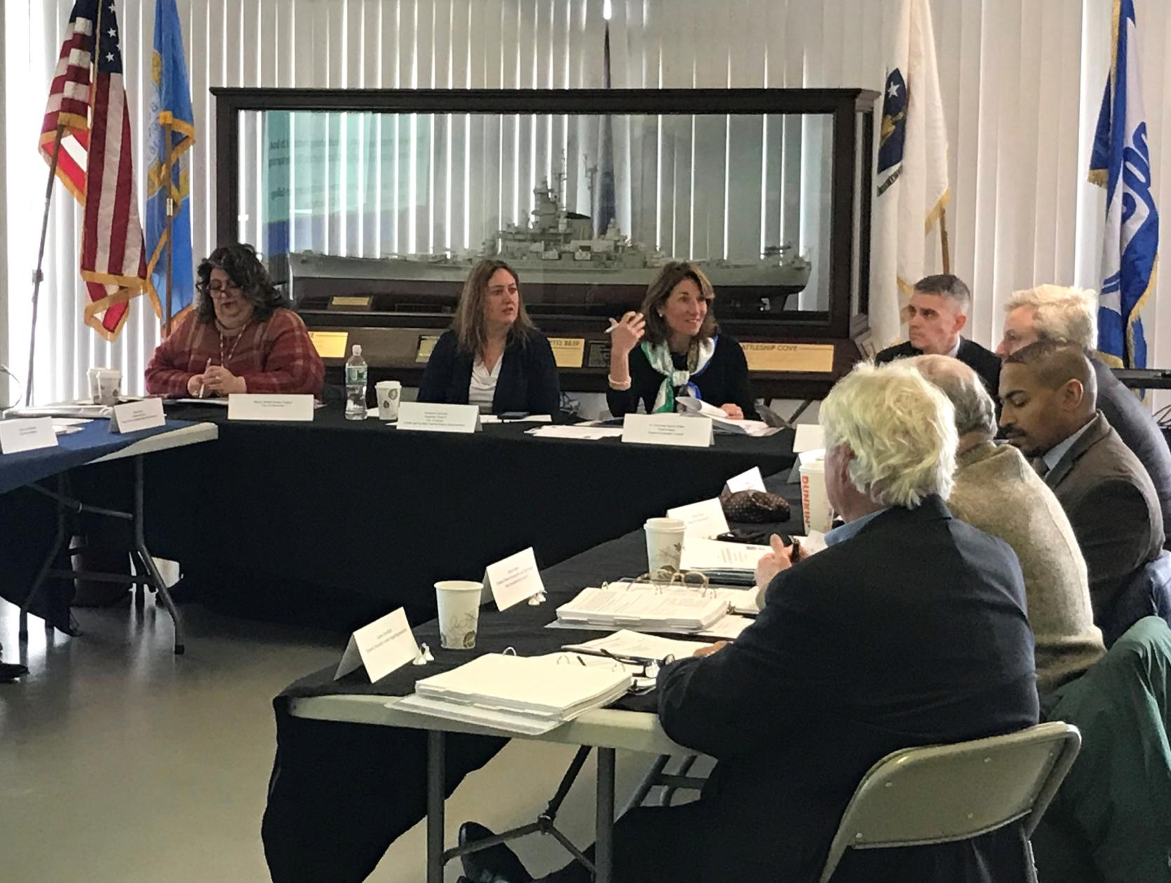 Lt. Governor Karyn Polito speaks at Wednesday's Seaport Economic Council meeting.