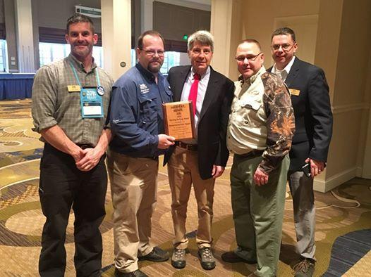 MassWildlife and MA NWTF members accept award