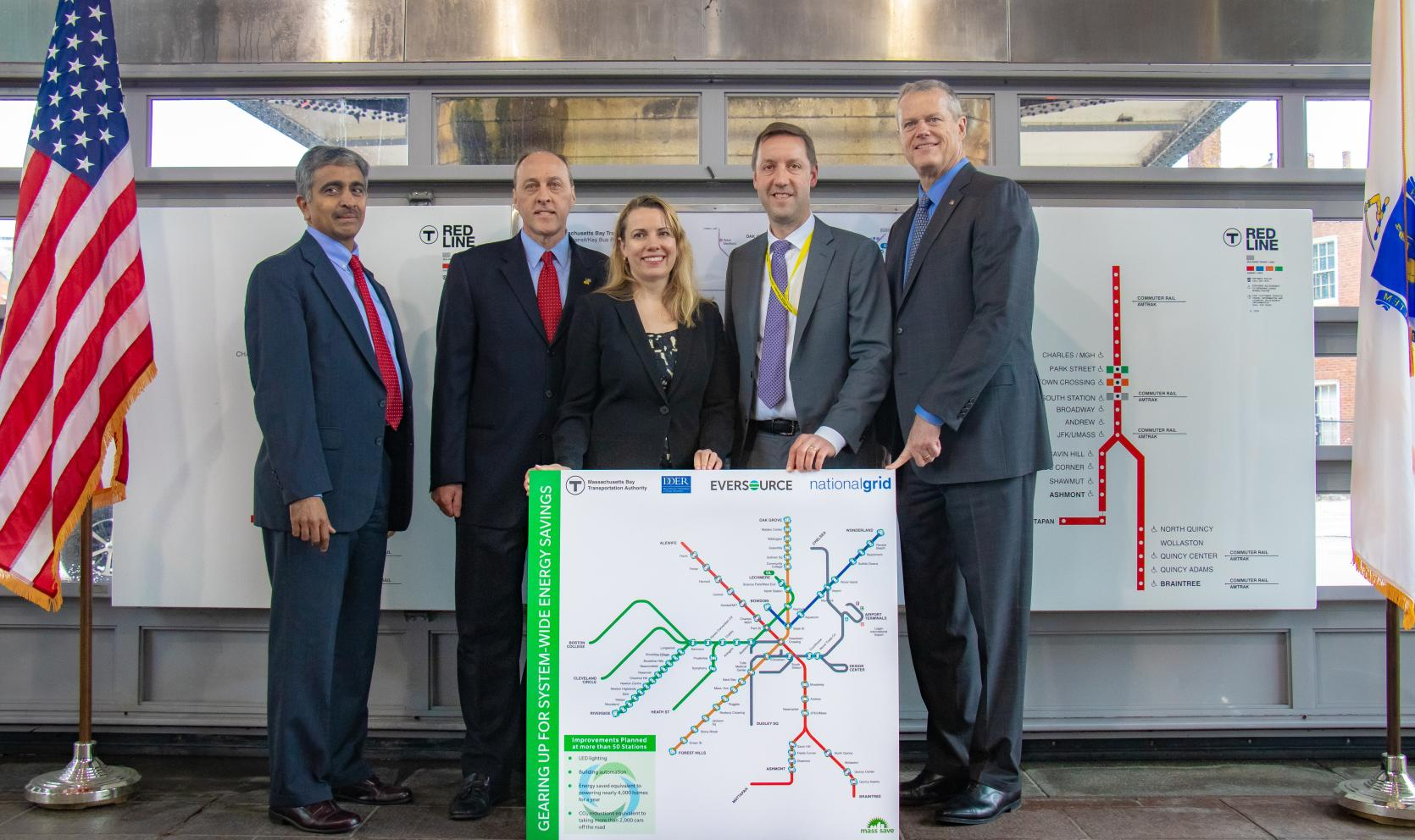 Baker-Polito Administration Announces $40 Million Energy Efficiency Partnership with MBTA, Eversource and National Grid