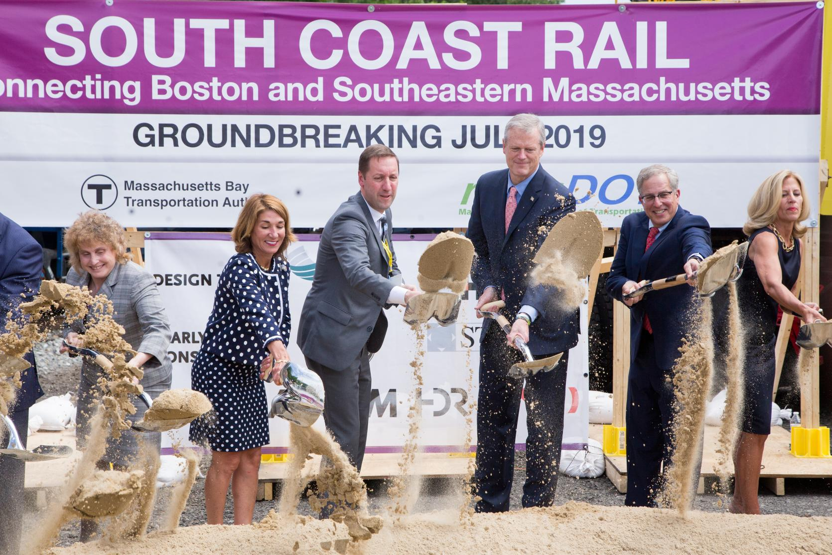 Baker-Polito Administration Celebrates South Coast Rail Groundbreaking