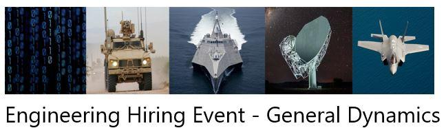 Engineering Hiring Event - General Dynamics | Mass gov