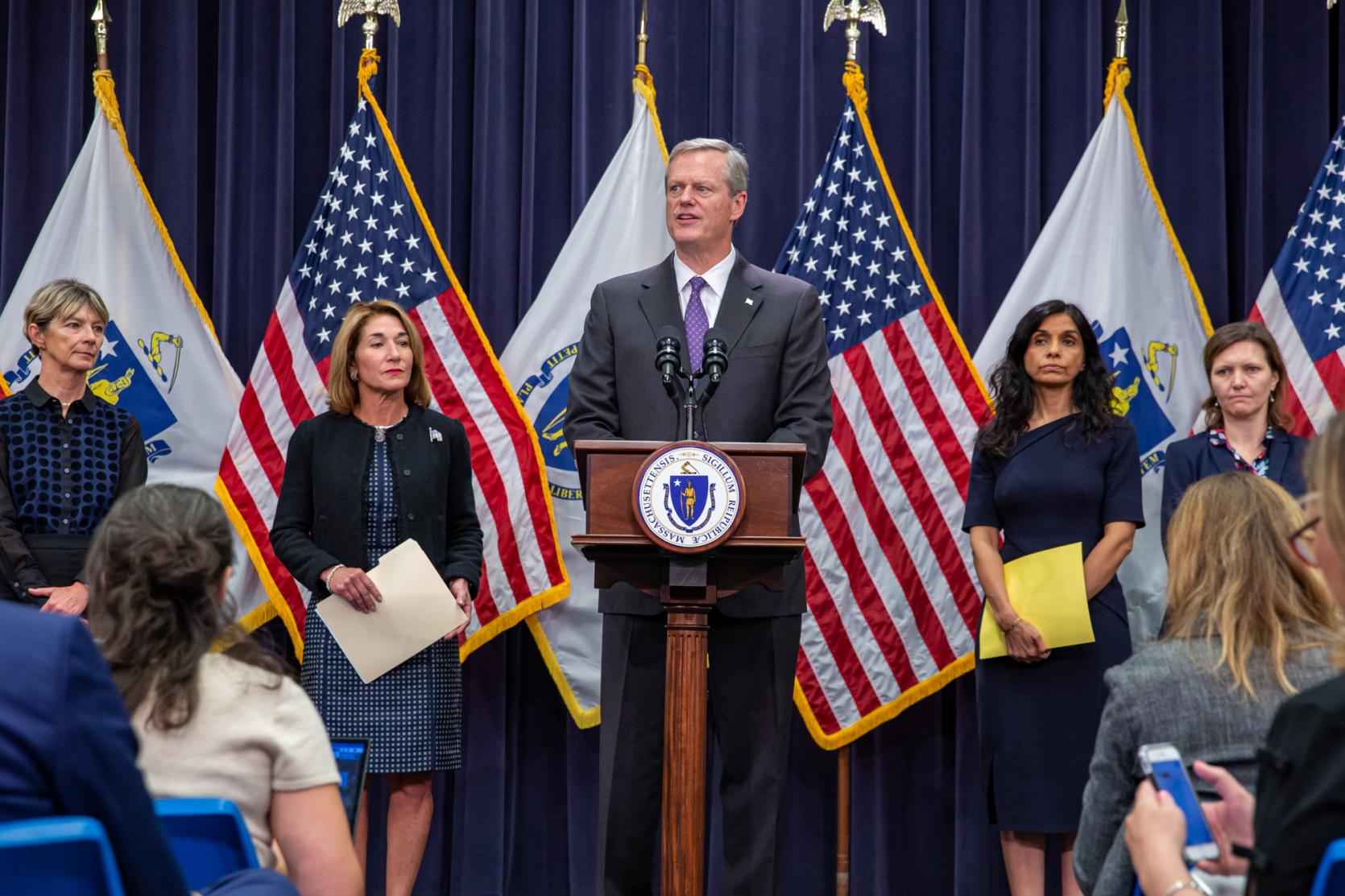 Governor Charlie Baker Declares Public Health Emergency, Announces Temporary Four-Month Ban on Sale of All Vape Products