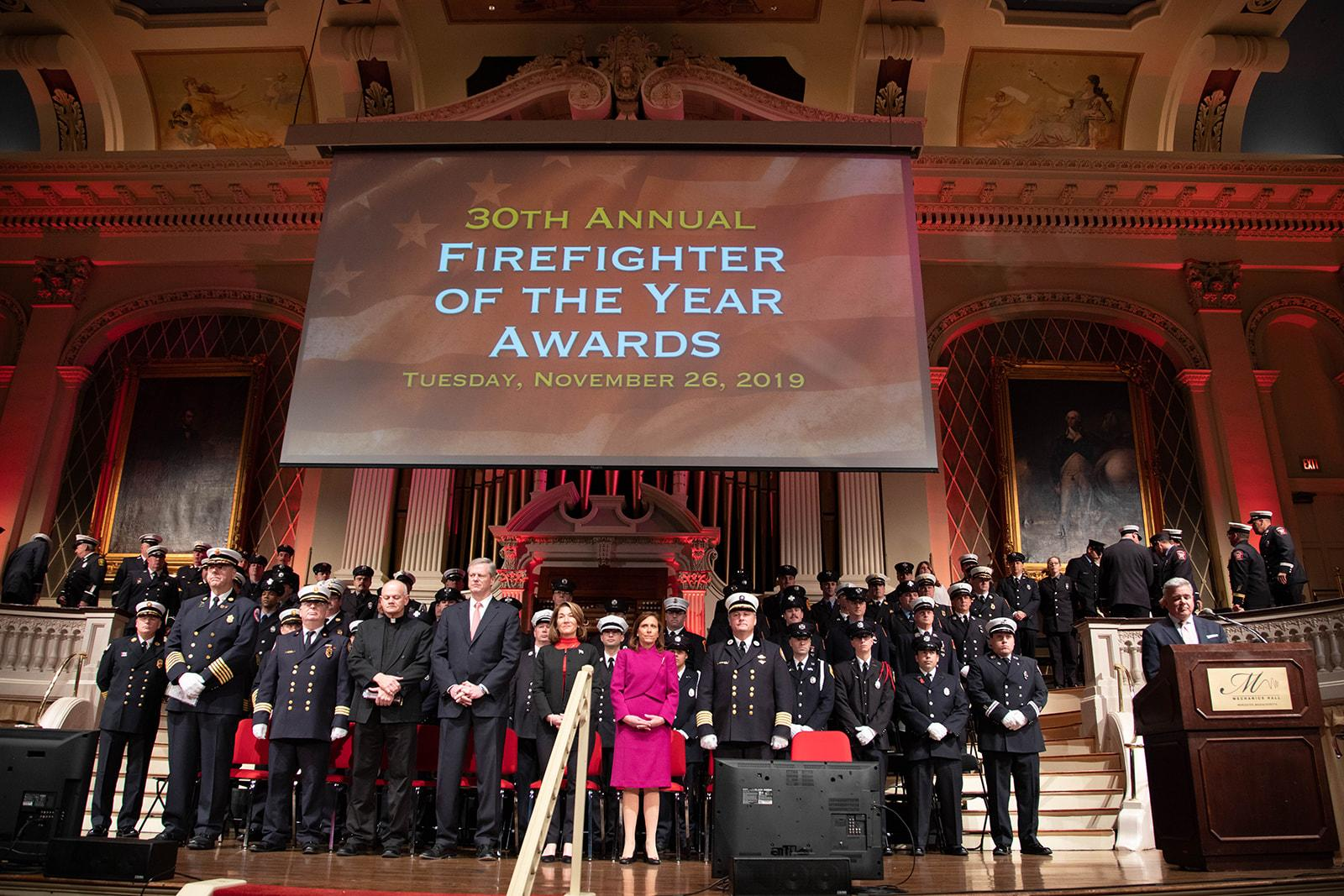 Stage at the 30th annual Firefighter of the Year Awards