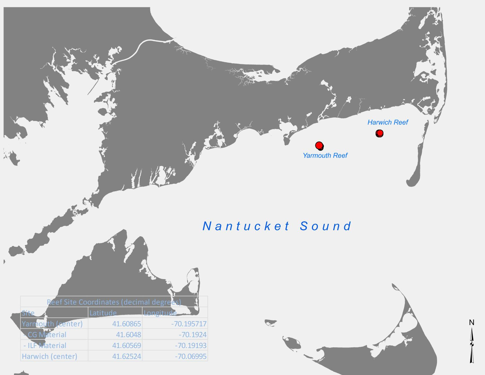 Dmf Deploys Materials On The Yarmouth Reef In Nantucket Sound Mass Gov