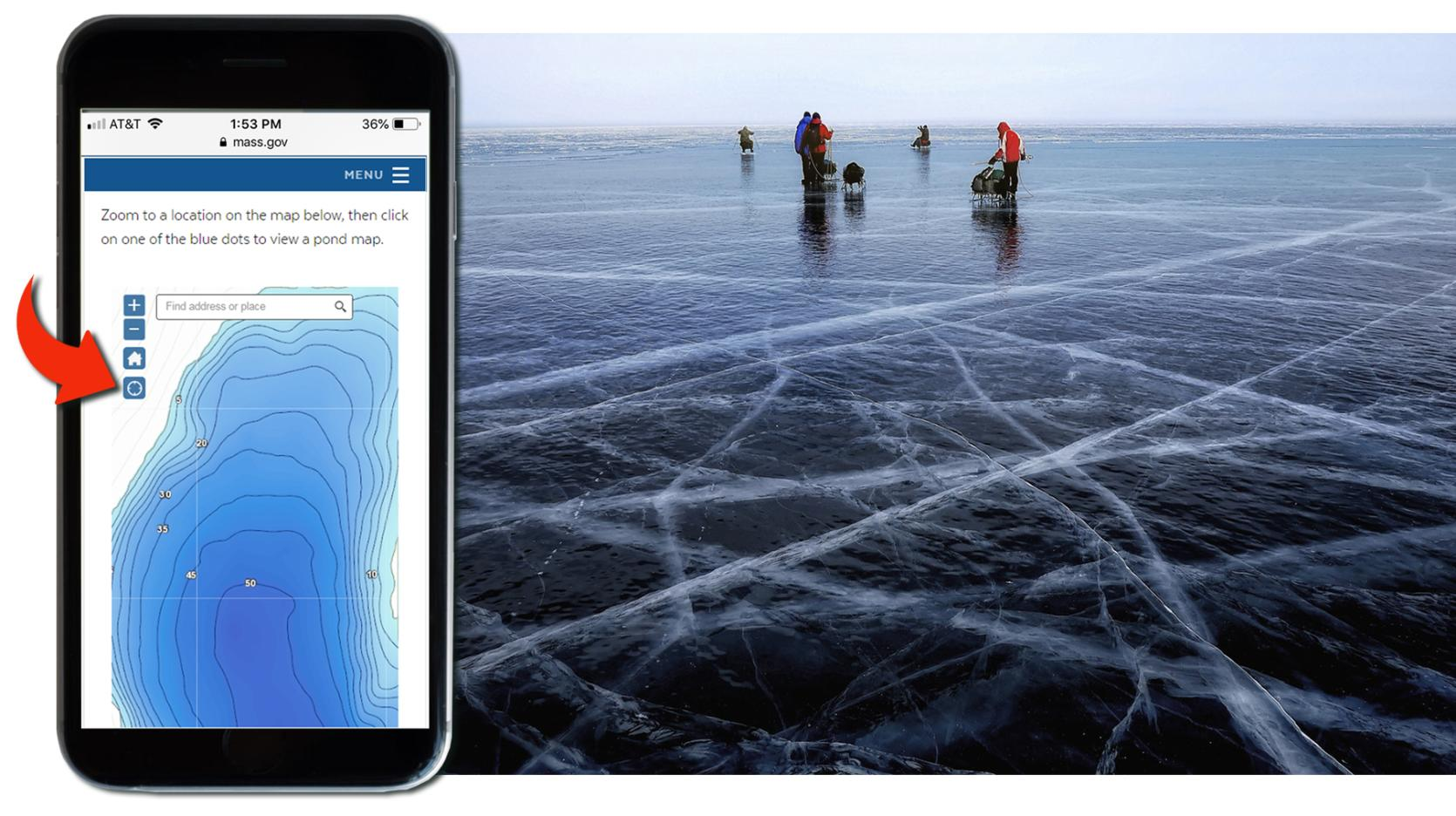 ice fishing app on the phone