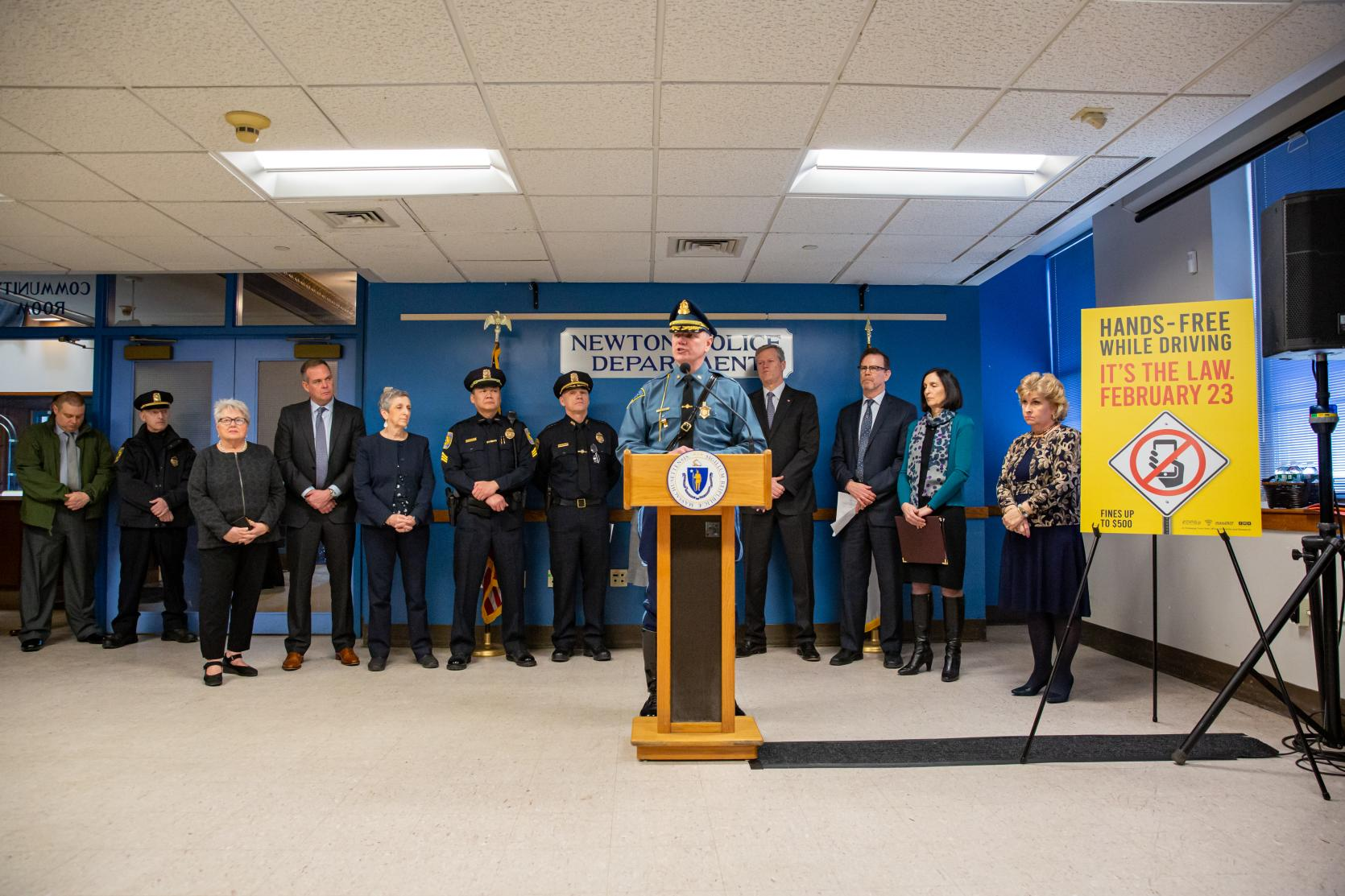 Baker-Polito Administration Brings Awareness to New Hands-Free Law Taking Effect Sunday