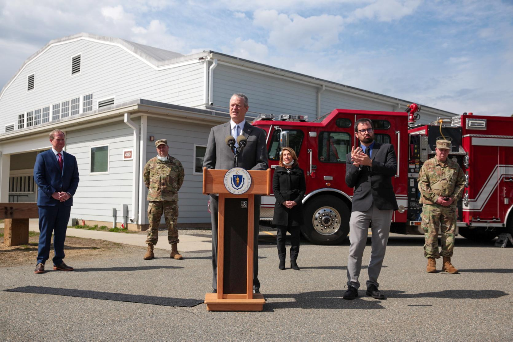 Governor Baker, Lt. Governor Polito Tour Field Medical Station at Joint Base Cape Cod, Announce Further COVID-19 Response Reporting Data