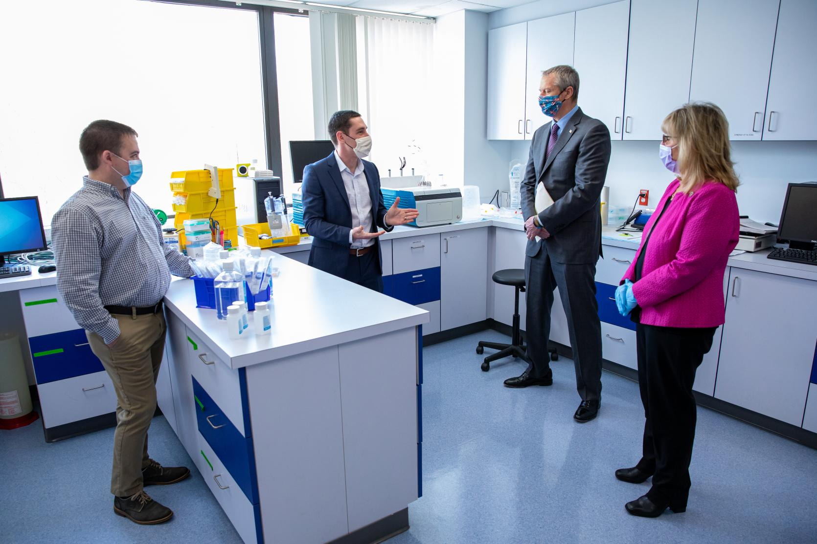 Governor Baker Tours MetroWest Manufacturer MatTek Life Sciences, Pivoting to Support COVID-19 Research With Support from M-ERT