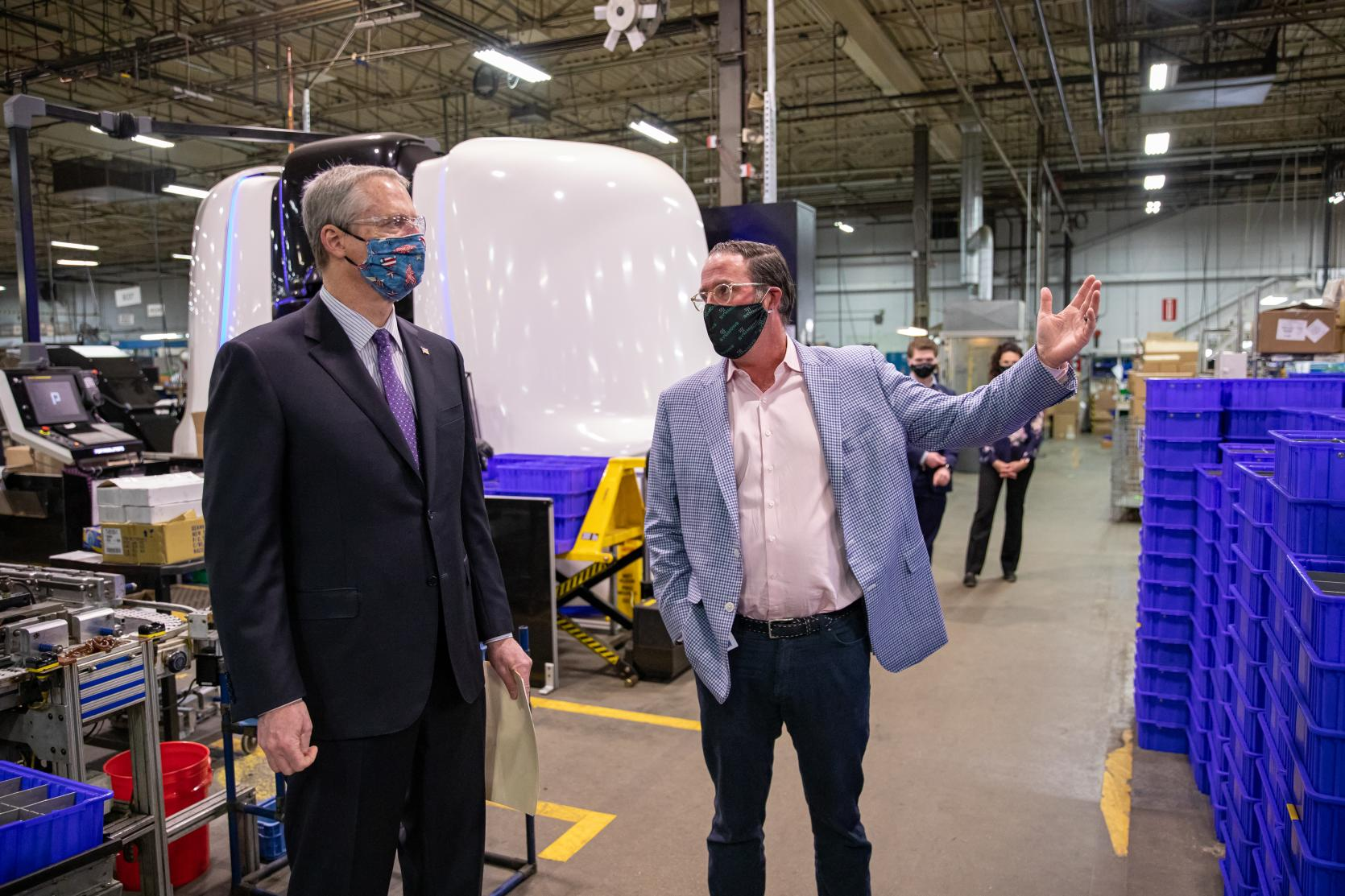 Governor Baker, Lt. Governor Polito Highlight Workplace Implementation of New COVID-19 Safety Standards at Symmons Industries in Braintree