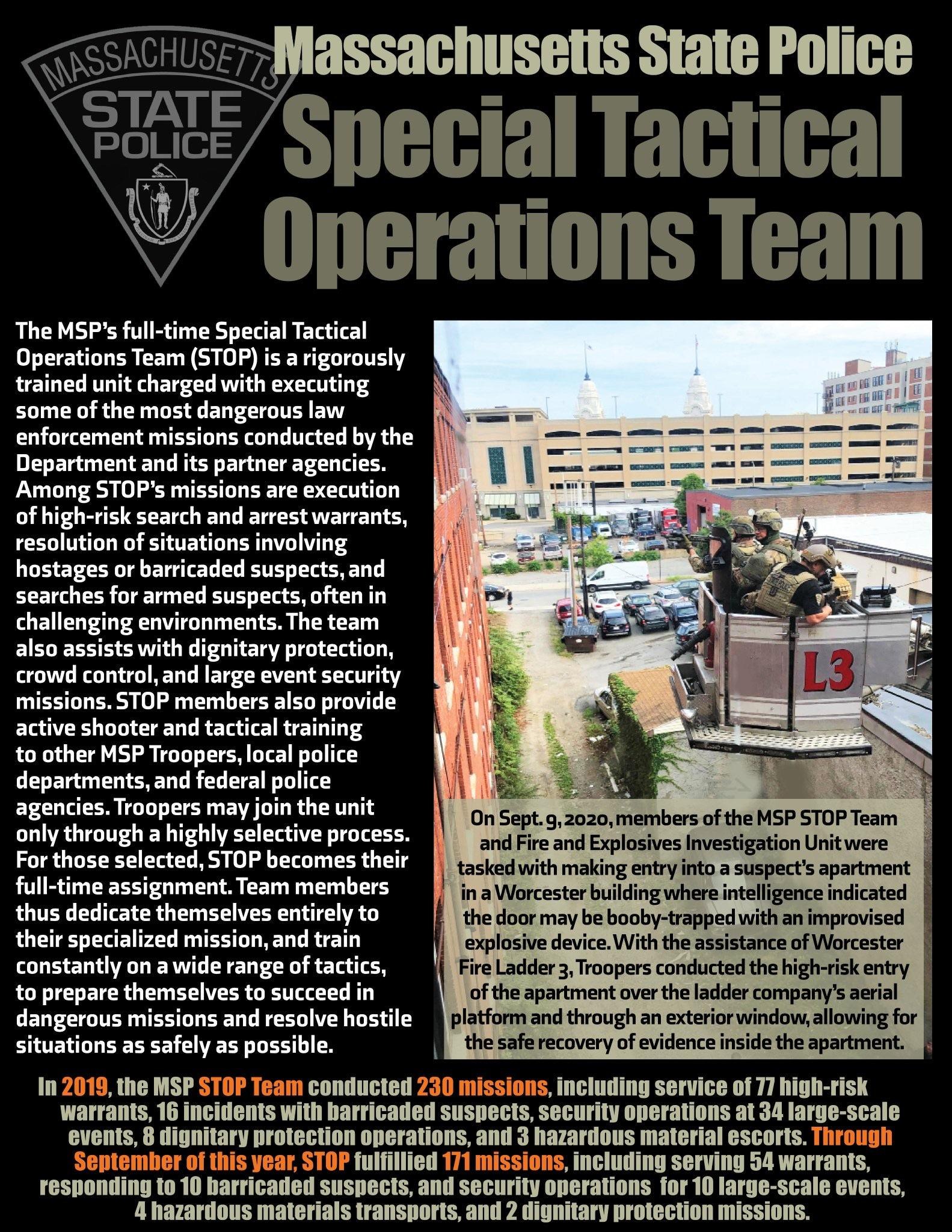 Massachusetts State Police Special Tactical Operations Team