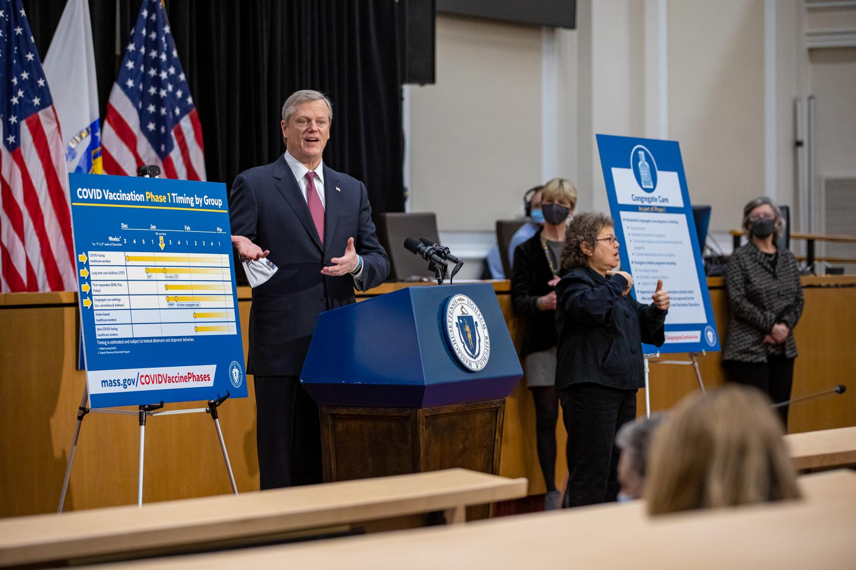 Baker-Polito Administration Announces Plan To Begin Vaccinations for Congregate Care Facilities, Updates to Phase Two