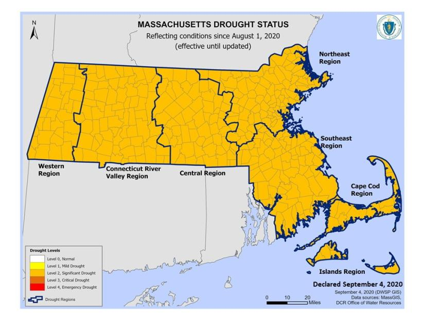 Significant Drought Conditions Continue Across MA