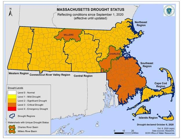 Town of Franklin, MA: status moves to Level 3- Critical Drought