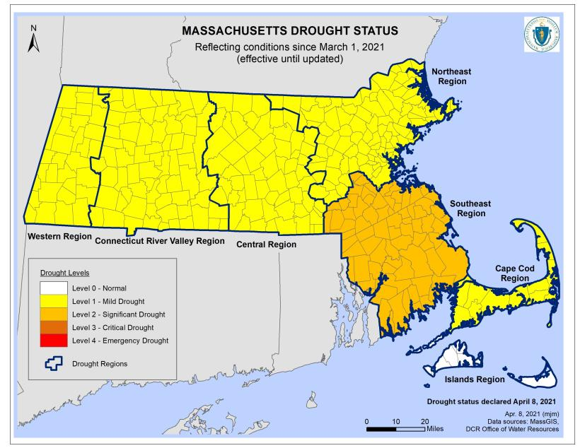 MAEnergy Environment: Level 2 - Significant Drought in the Southeast Region (yes, includes Franklin, MA!)