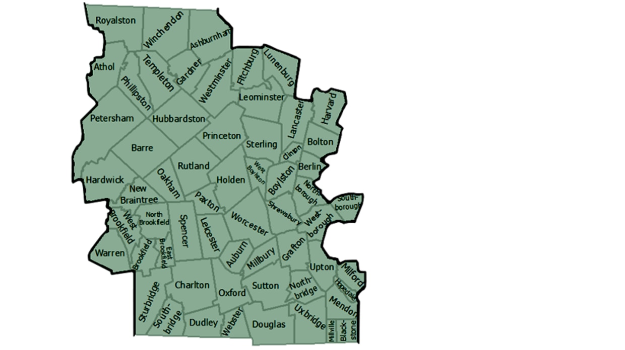 map of MassWildlife Central district
