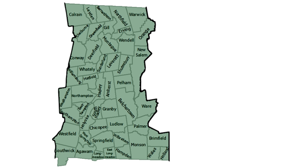 map of MassWildlife ct valley district