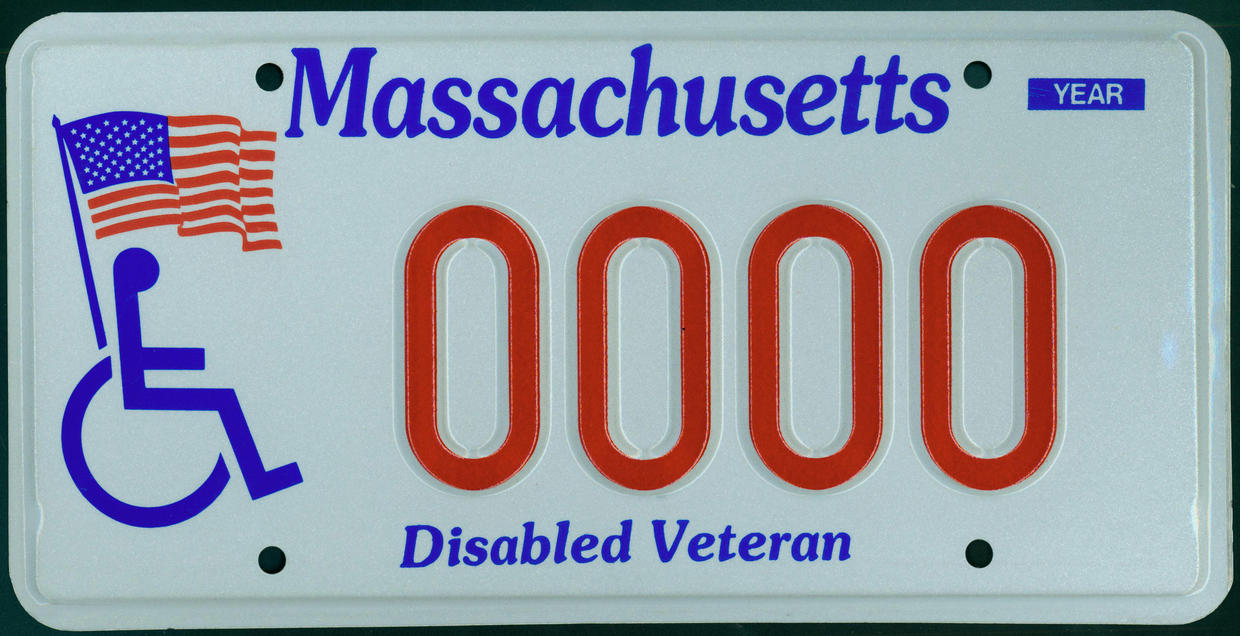 disabled veteran plate