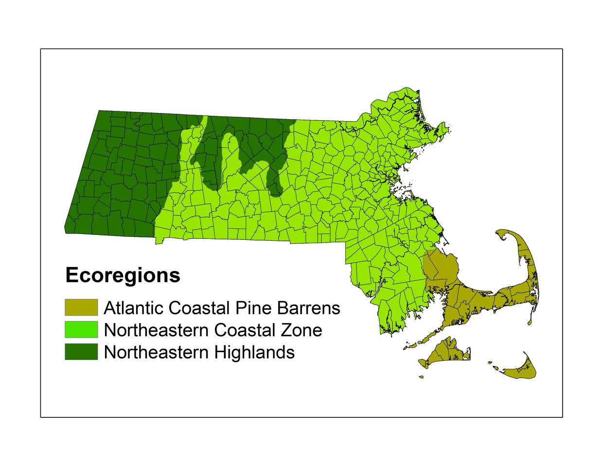 MA Foresters for the Birds Ecoregions