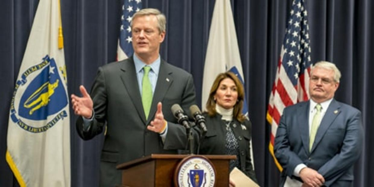 Governor Baker speaking