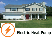 electric heat pump townhome