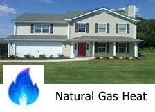 natural gas heat townhome