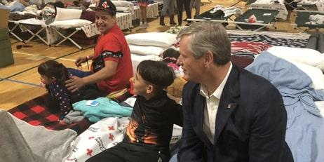 Governor Baker with a greater Lawrence resident