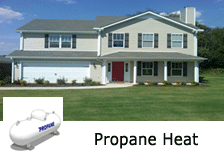 propane heat townhome