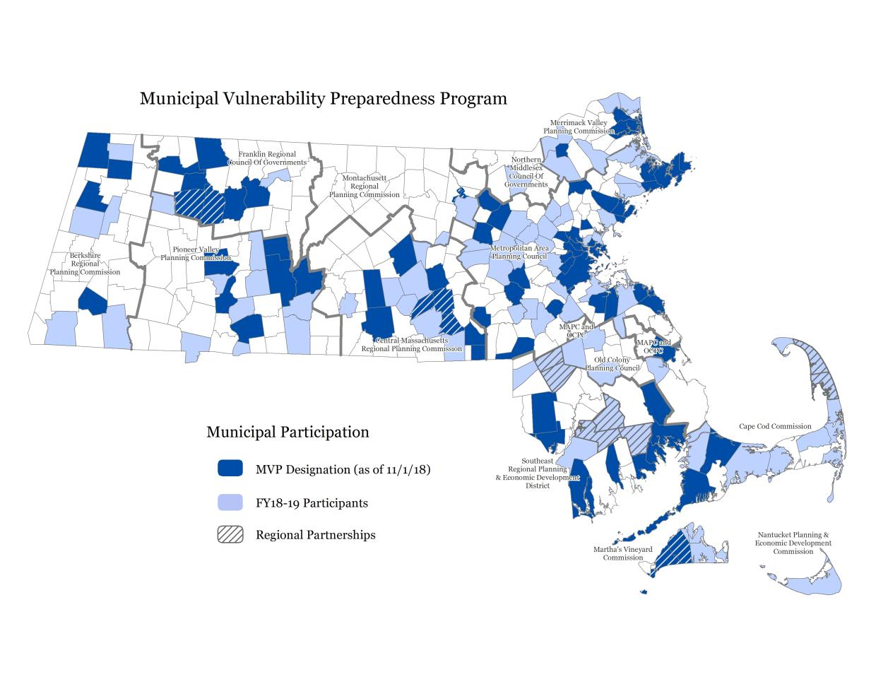 Municipal Participation map