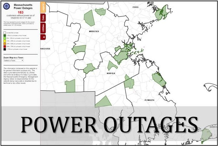 Massachusetts Power Outage Map