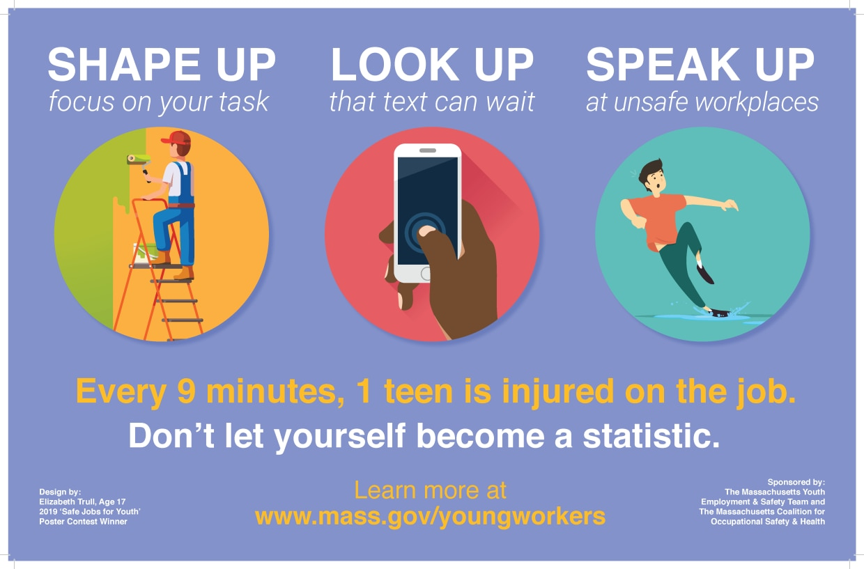 2019 MA Safe Jobs for Youth Poster Contest | Mass gov