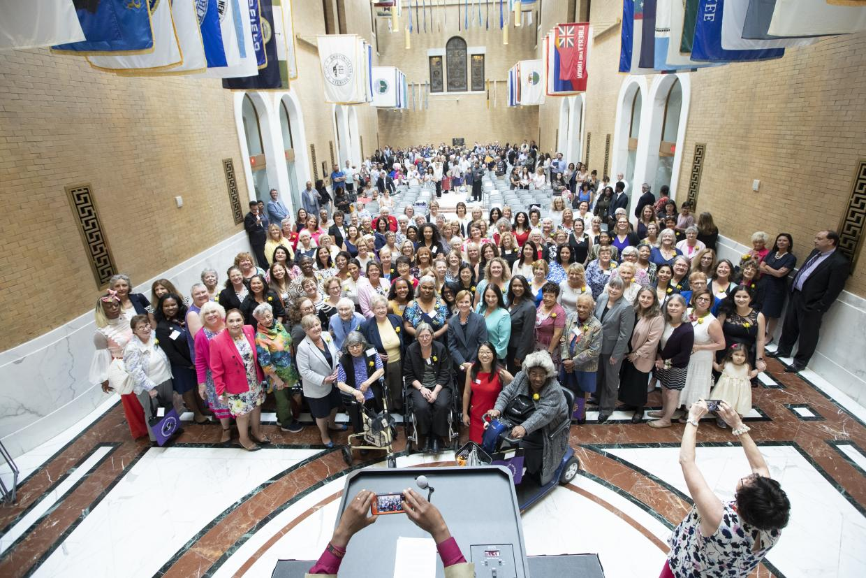 Picture of women being honored at the 2019 Unsung Heroine Celebration at the State House.