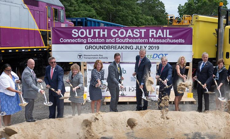 South Coast Rail July 2, 2019 groundbreaking ceremony in East Freetown