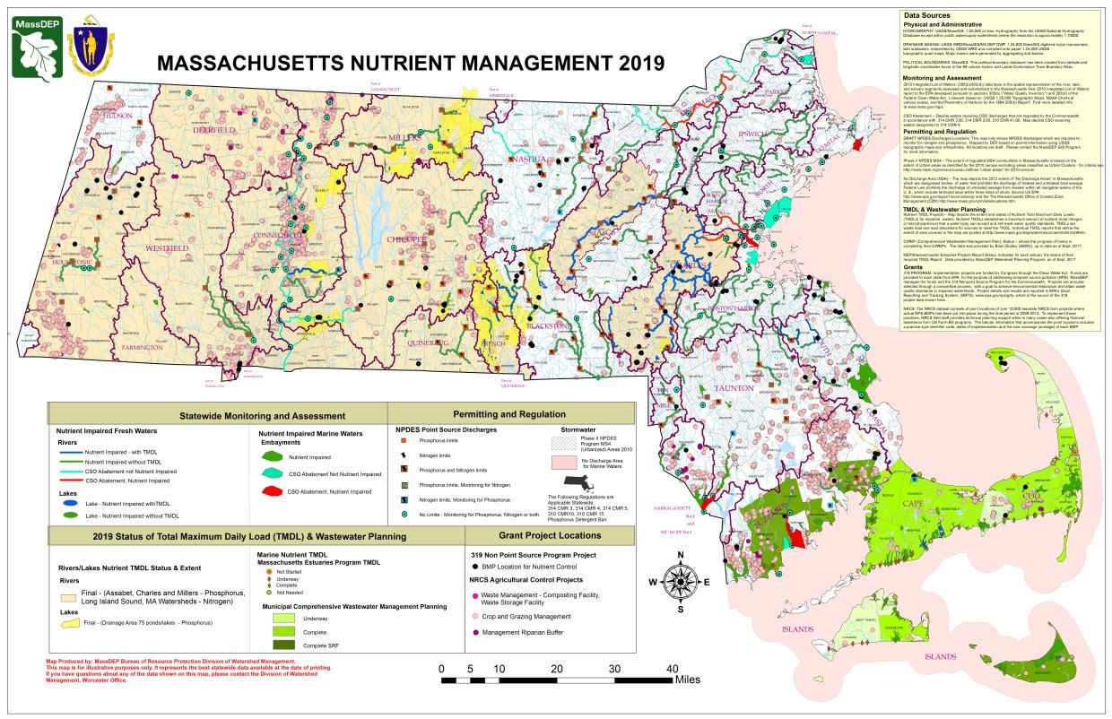 map of nutrient management projects for 2019