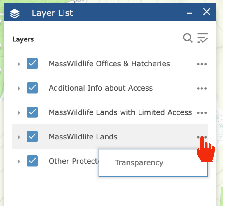 layer list transparency