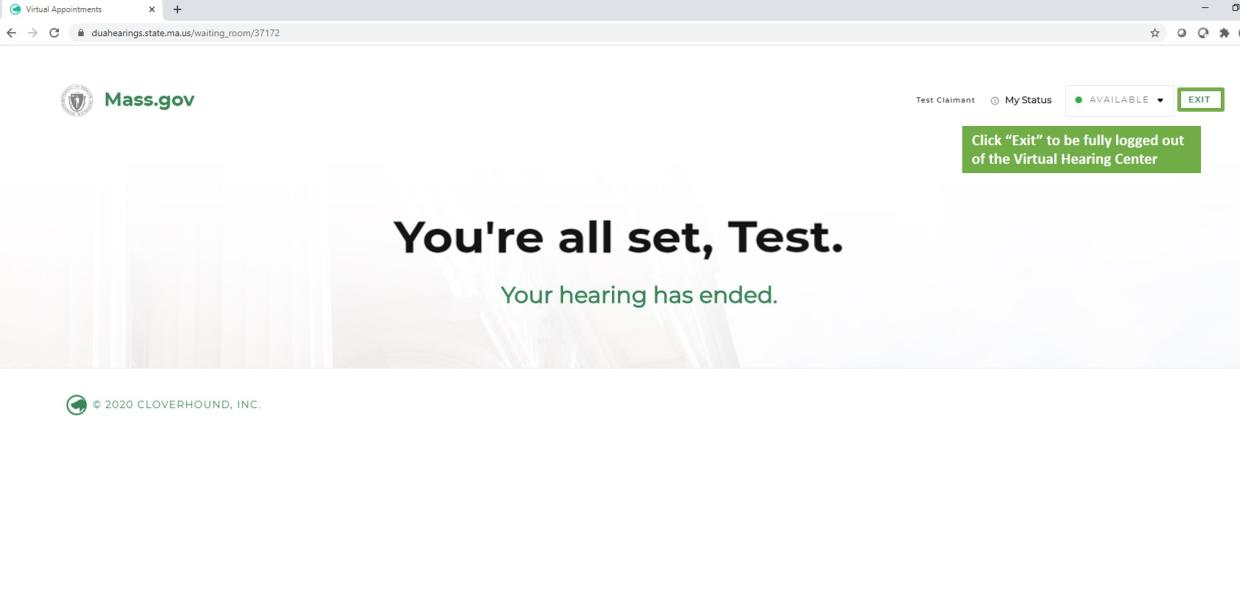 virtual hearing claimant step 8c