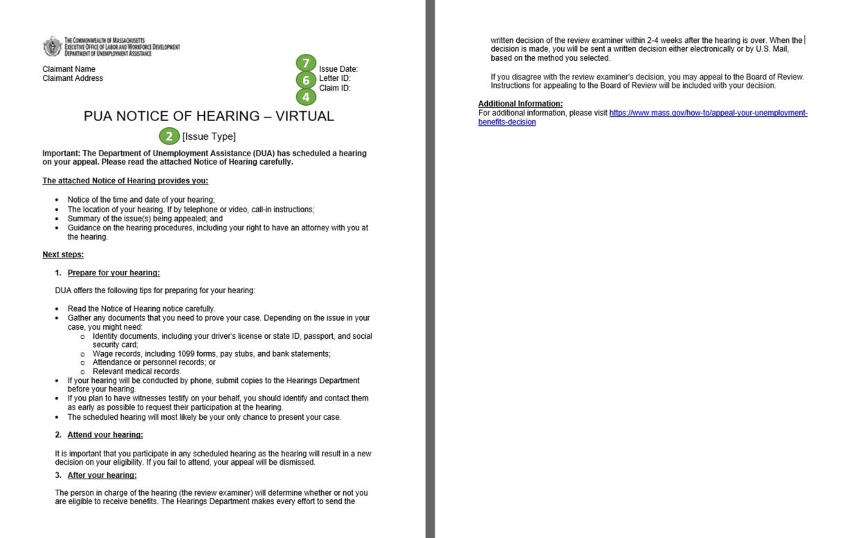 virtual hearing notice