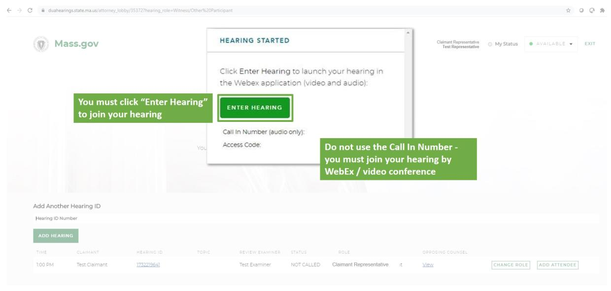 virtual hearing rep step 5