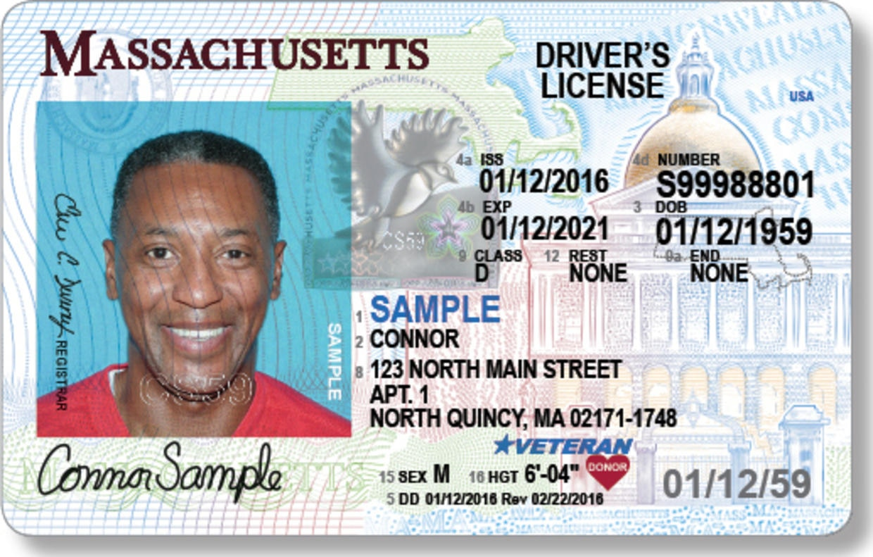 Sample driver's license with organ donor indicator