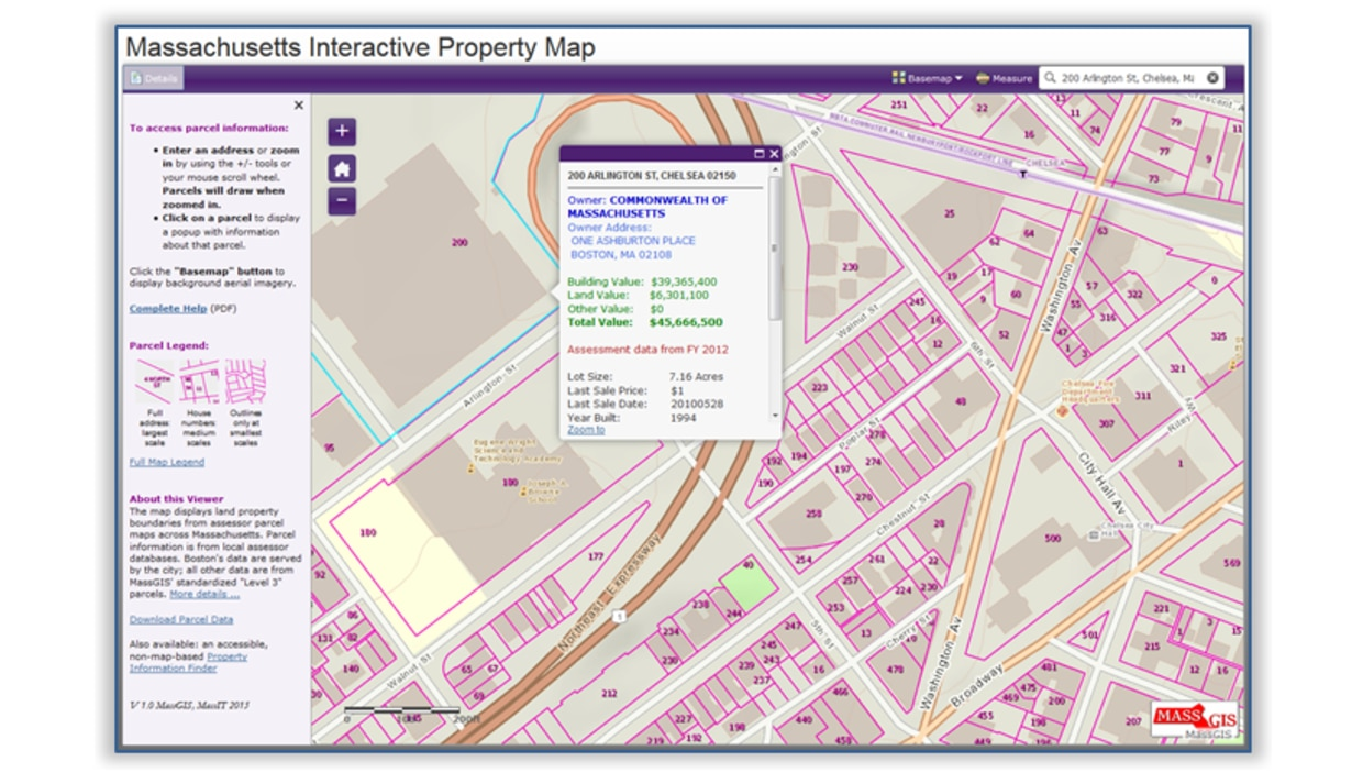 Machusetts Interactive Property Map | M.gov on real estate property maps, gps property maps, county property maps,
