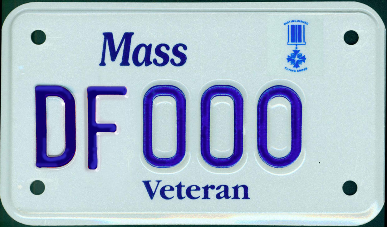distinguished flying cross motorcycle plate