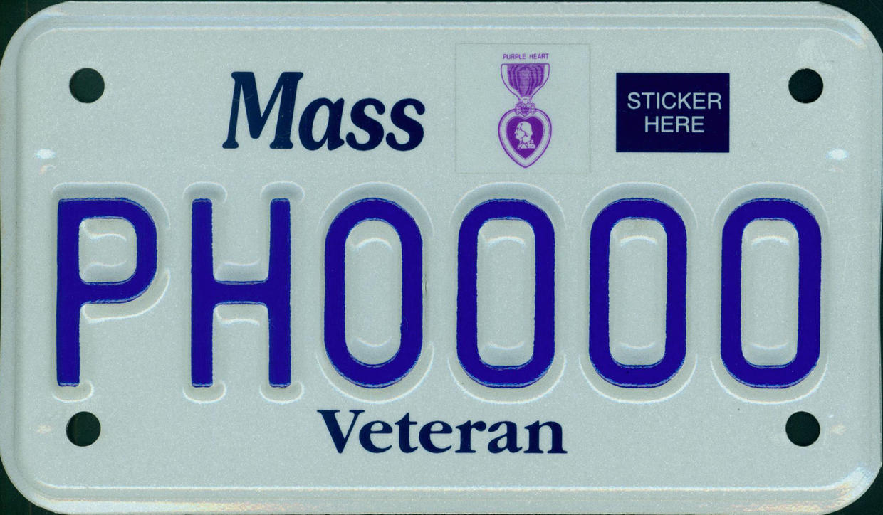 purple heart motorcycle plate